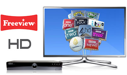 Free TV with Freeview - Over 12 HD Channels