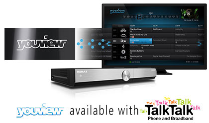Free TV with Youview TV - Available with TalkTalk Broadband